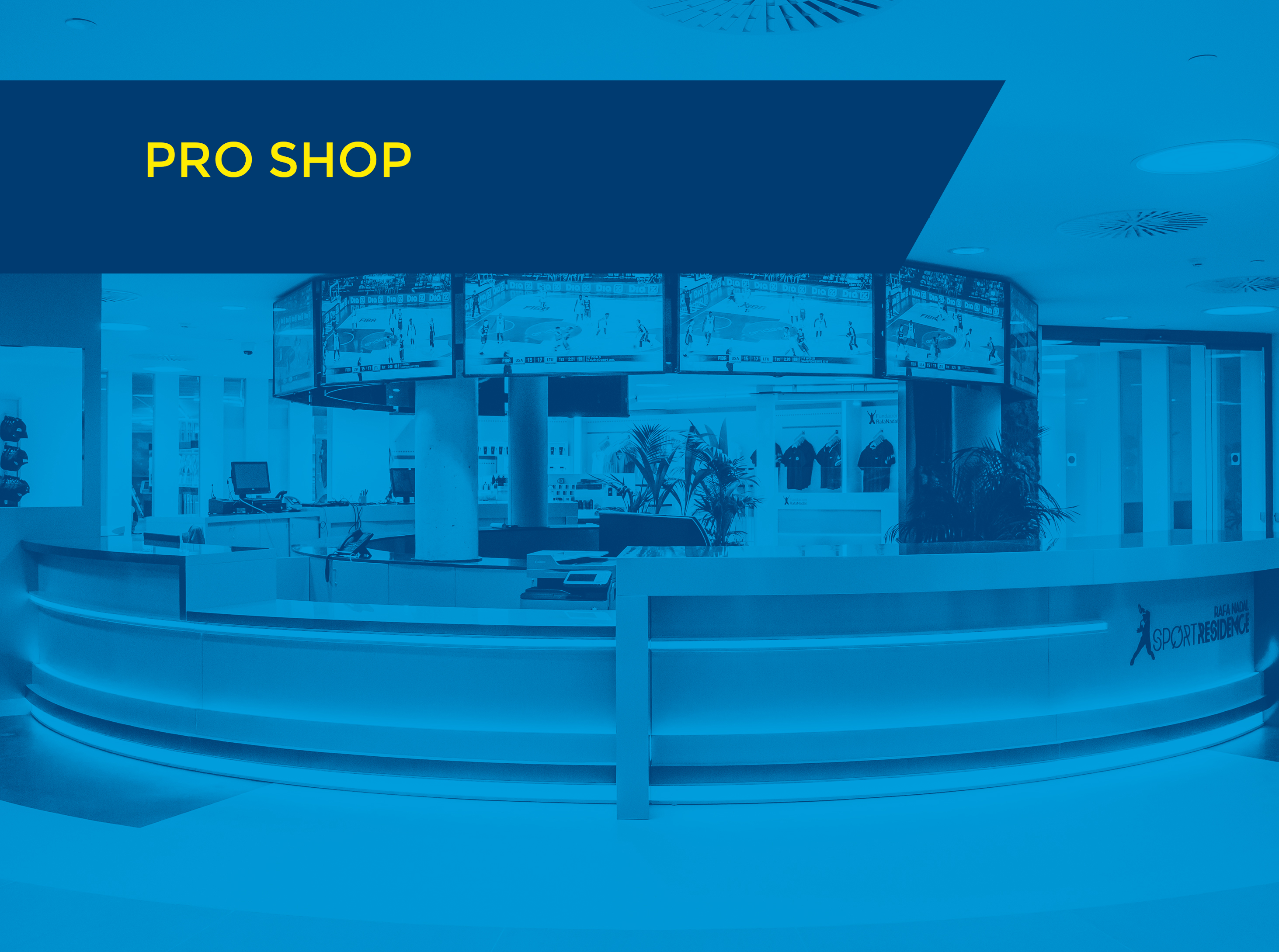 pro shop with text