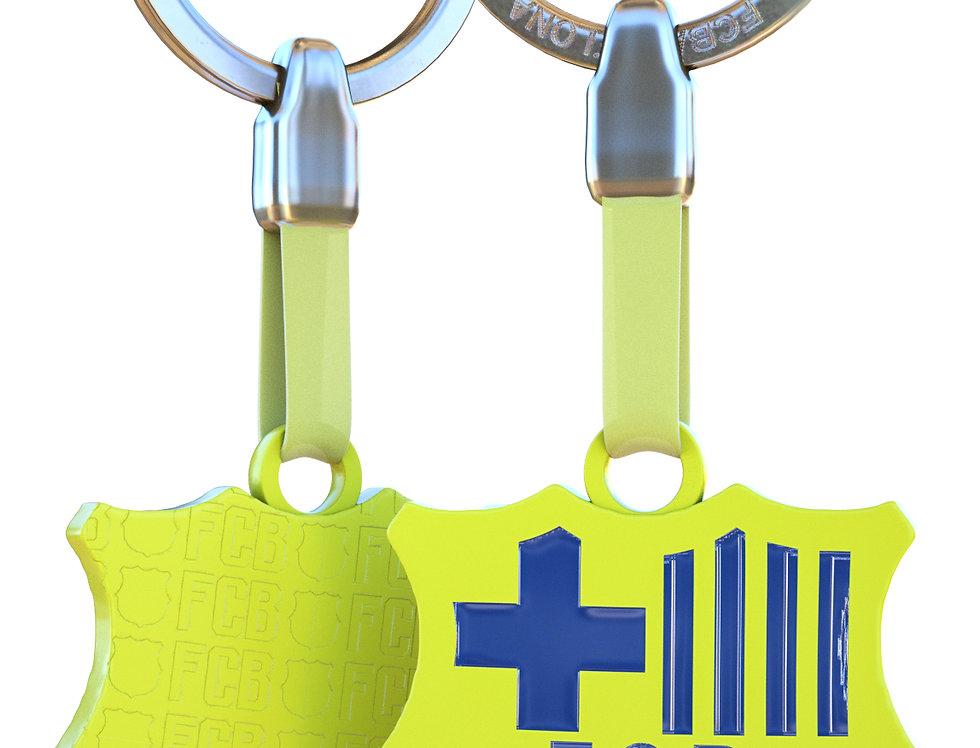 FCB Yellow Crest Keychain