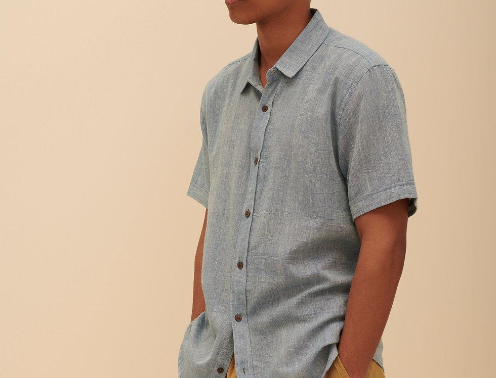 Handwoven Blue (short sleeves)