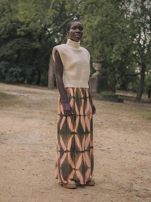 Maze skirt caqui & pink