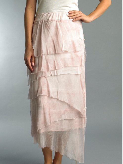 The Giselle Silk Skirt Soft Pink