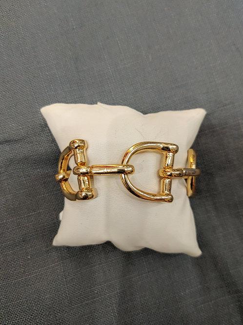 Large Gold Link Bracelet