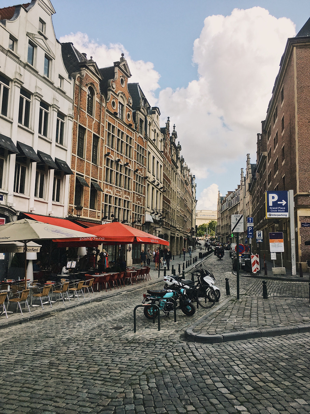 Brussels Cobbled Streets