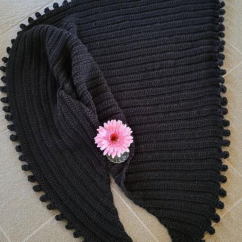 Black Soft Bobble Wrap/Shawl