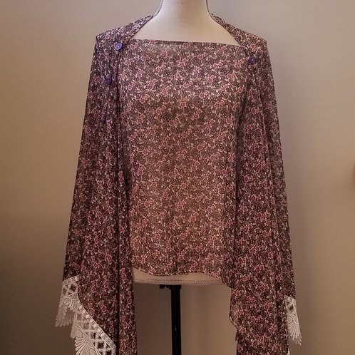 Floral Wrap with Lace Details