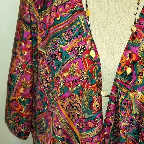 Silky Soft Multi-Coloured and Patterned Kimono