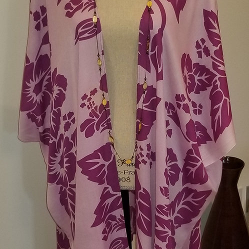 Hawaiian Mauve and Pink Kimono
