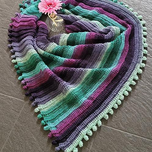 Colorful Bobble Shawl/Wrap
