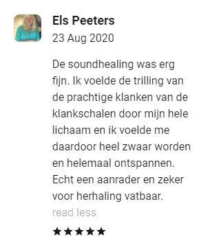 Recensie ervaring soundhealing klankschalen behandeling Sharana Voerendaal Zuid Limburg