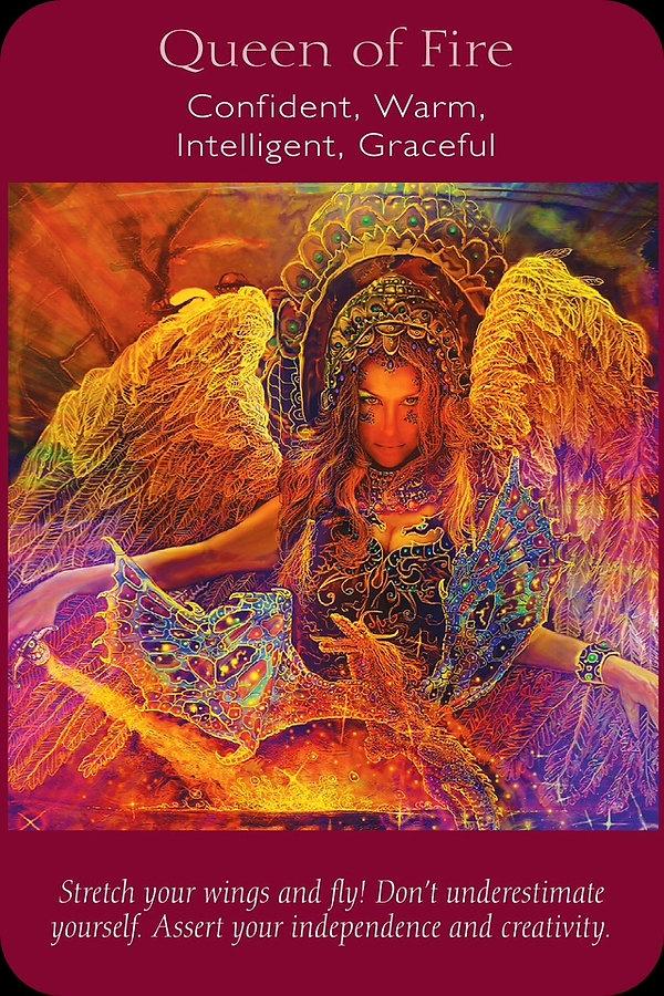 Sharana Online Engelentarot Koningin Van Vuur