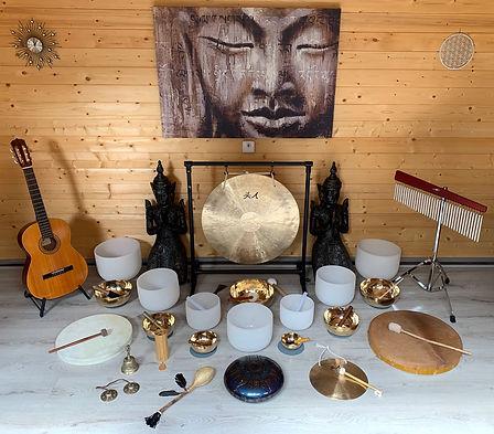 Soundhealing klankschalen gong klankbad Sharana Voerendaal Zuid Limburg