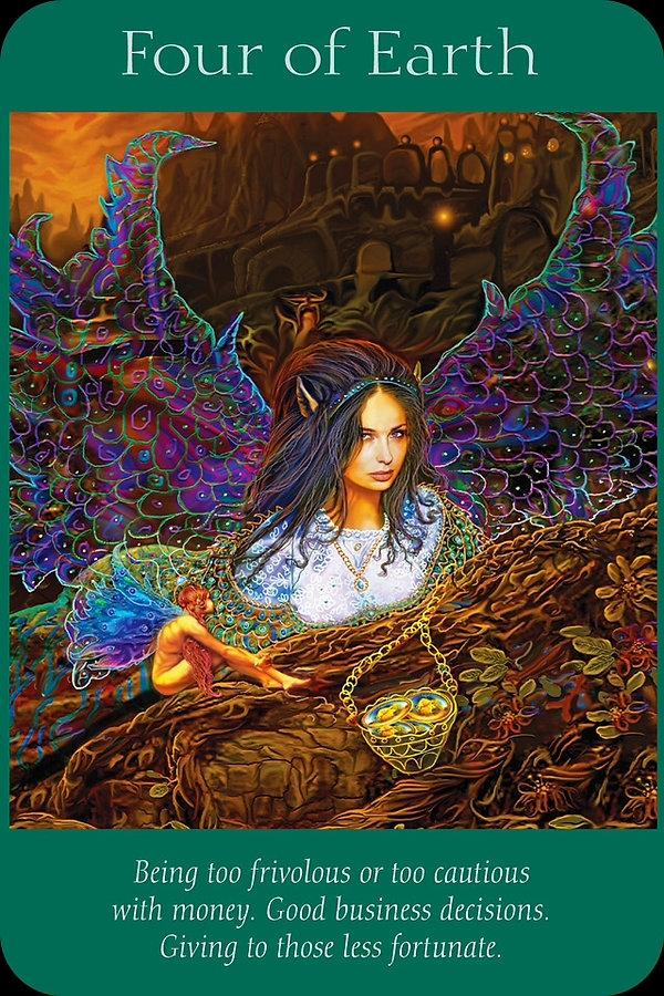 Sharana Online Engelentarot Aarde Vier