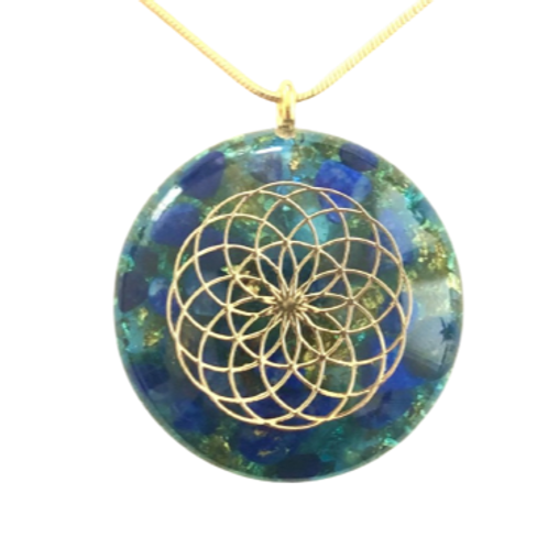Flower Of Life Saffier hanger