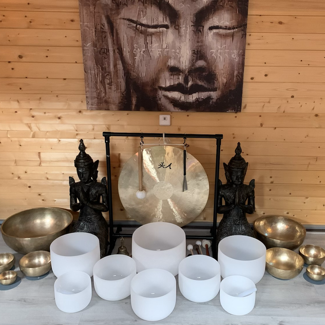 Soundhealing Klankschalen praktijkruimte Sharana