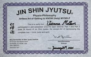 Jin Shin Jyutsu certificaat