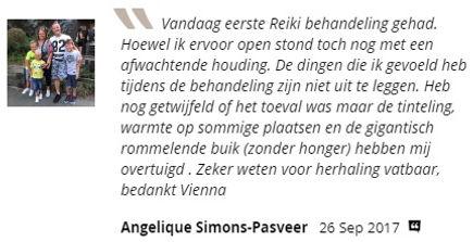 Ervaring Reiki behandeling Sharana Zuid Limburg