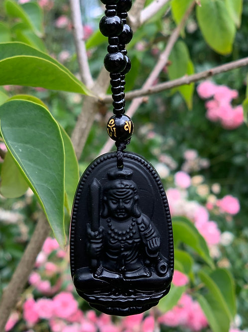 Boeddha ketting Obsidiaan