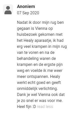 Recensie ervaring Healy frequentietherapie en bioresonantie Sharana Voerendaal Zuid Limburg