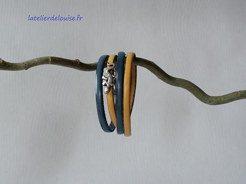POSADAS Bleu Moutarde Salamandre