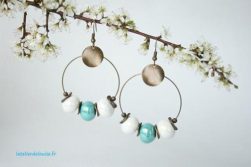 SAINTE-ANNE             ( blanc / turquoise )