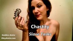 femdom chastity slave tasks