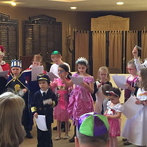 Children at Purim Services