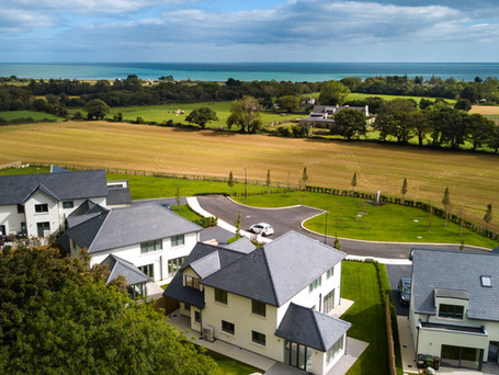 Real estate aerial video.