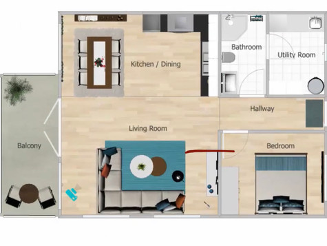Floor plans 2d and 3d.