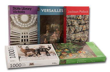 Jigsaw Puzzle, Versaille, Jackson Pollock, State Library Victoria, The Australian Book Connection