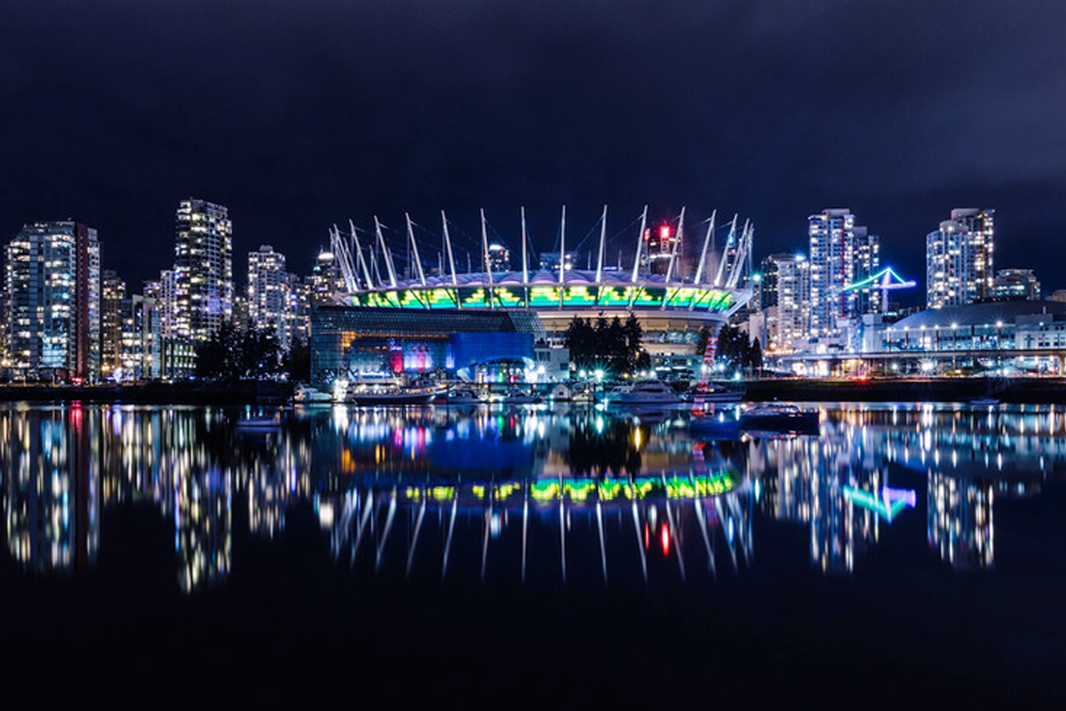 BC Place Audio-Reactive Pixel Mapping