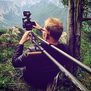Cameraman Willem Martinot in Slovenie voor Yamaha Promovideo
