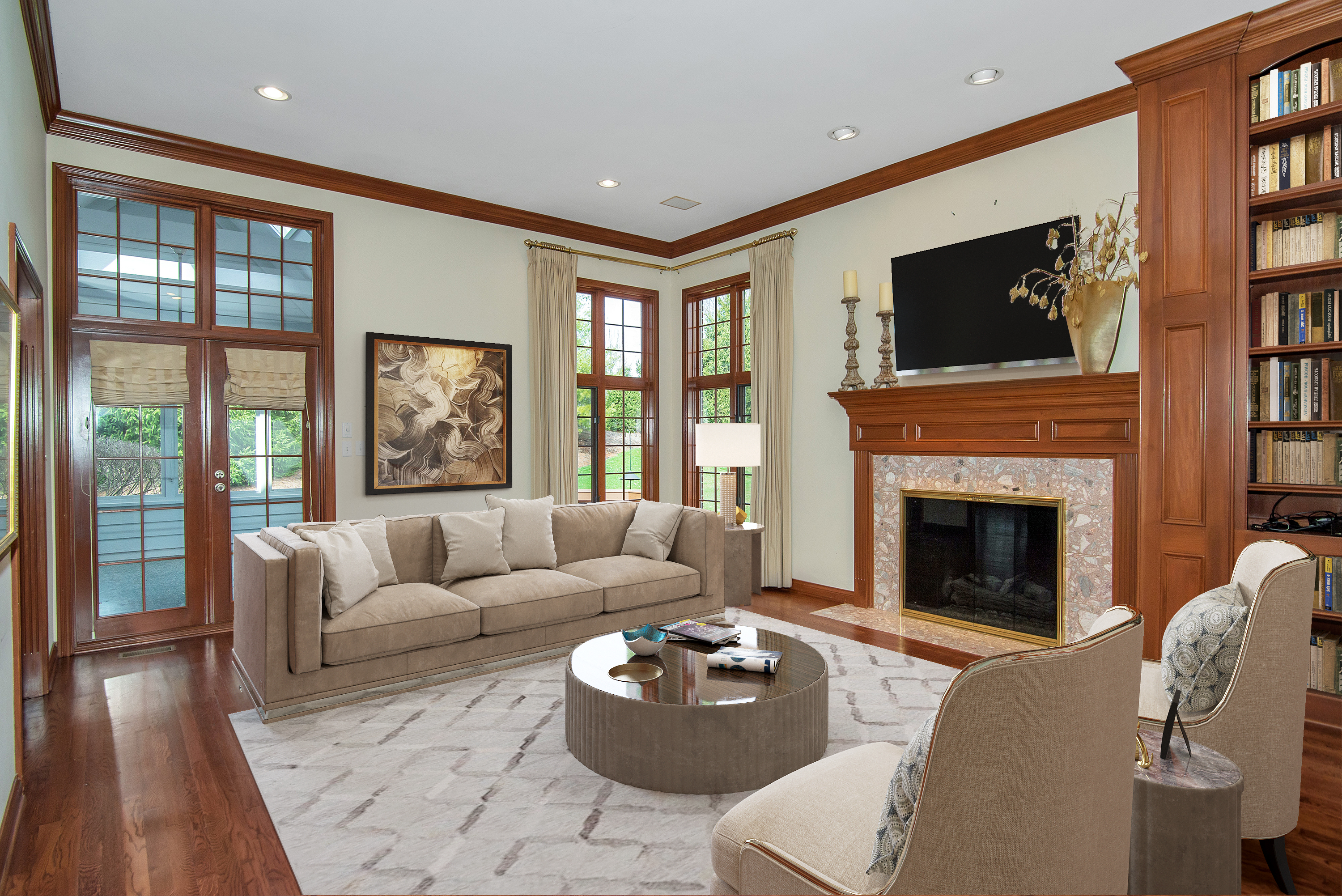 Family Room-Staged