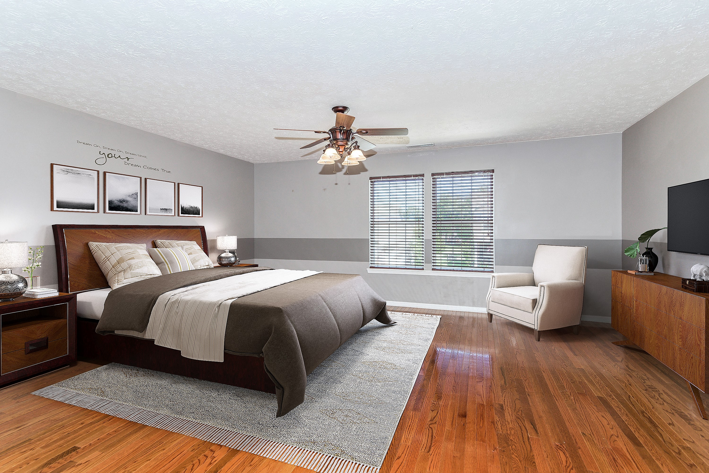 Master Bedroom Staged