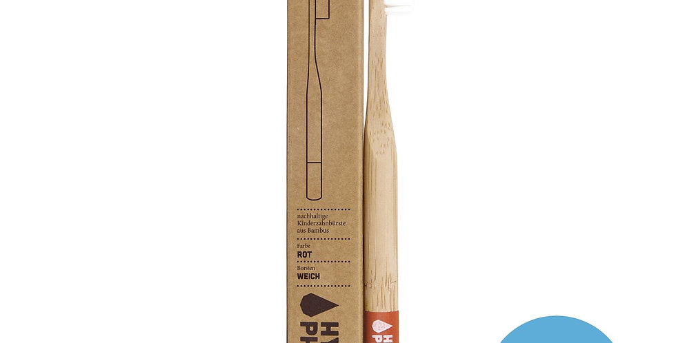 Kids Bamboo Toothbrush Red - Hydrophil