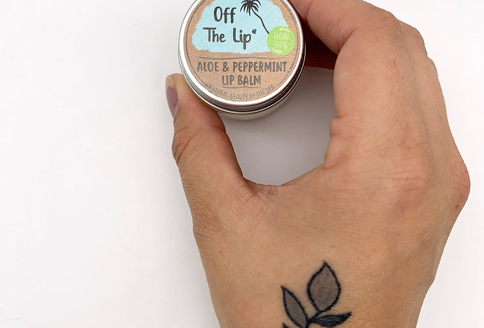 VEGAN Off The Lip Aloe & Peppermint - The Coconut Bee