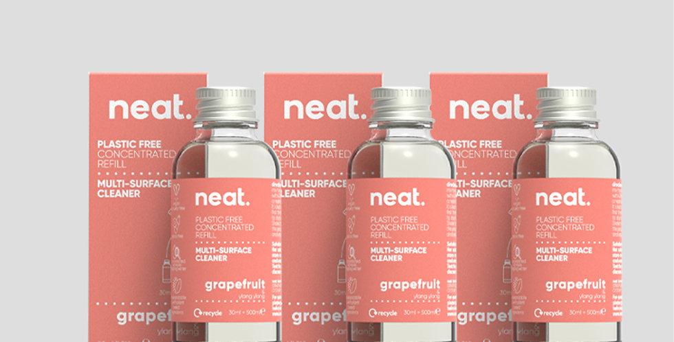 x3 Refill Grapefruit Multi Purpose Cleaner Bundle - Neat