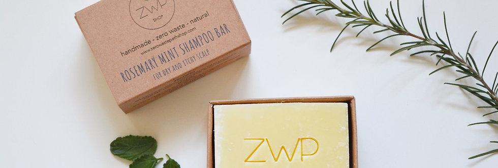 Rosemary & Mint Shampoo Bar 100g - Zero Waste Path