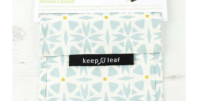 Eco Snack Bag Geo - Keep Leaf