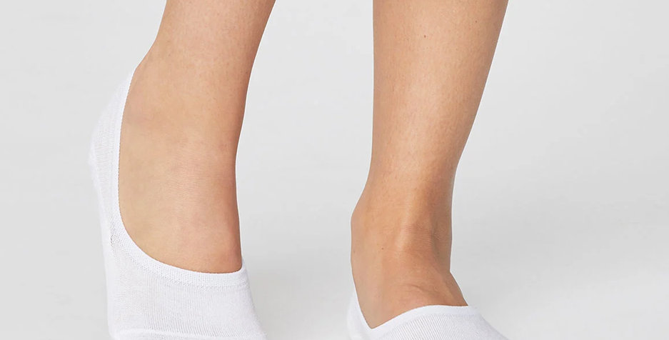 No Show Bamboo Socks White - Thought Clothing