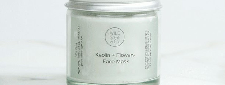 Kaolin + Flowers Face Mask - Wild Sage + Co