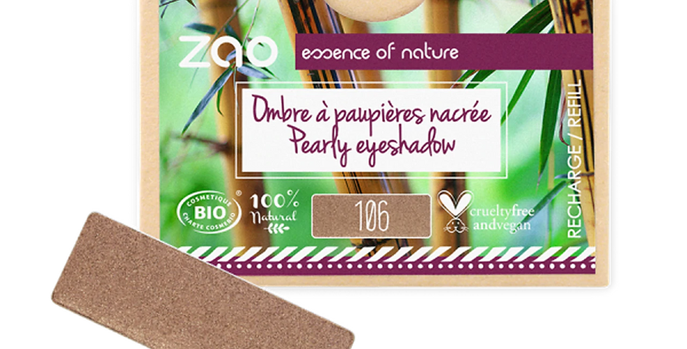 PAPER REFILL Rectangle Pearly Eyeshadow - Zao Makeup