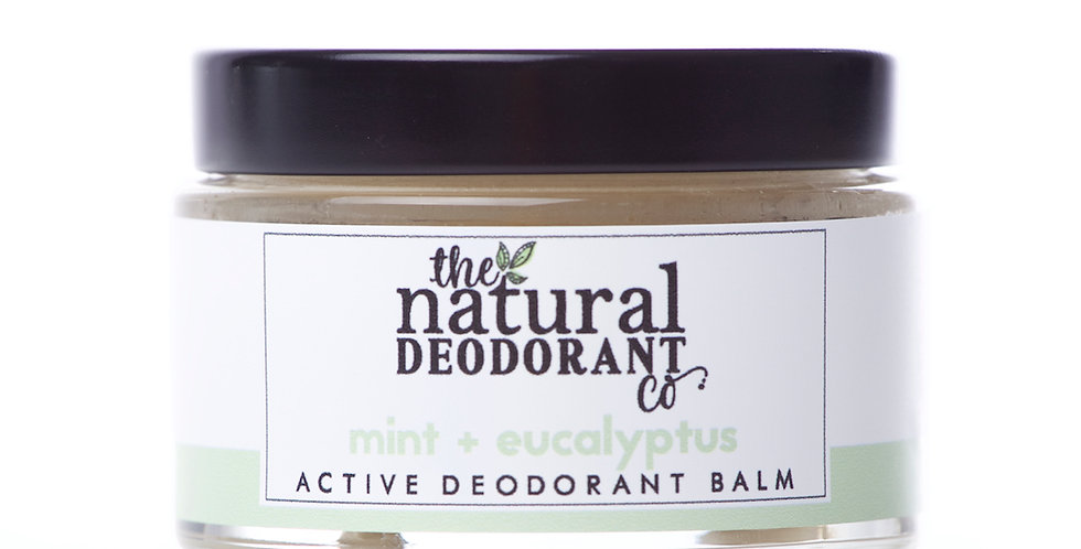 Active Deodorant Balm Mint + Eucalyptus 55g - The Natural Deodorant Co