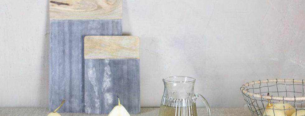 Bwari Long Marble Board Small Grey - Nkuku