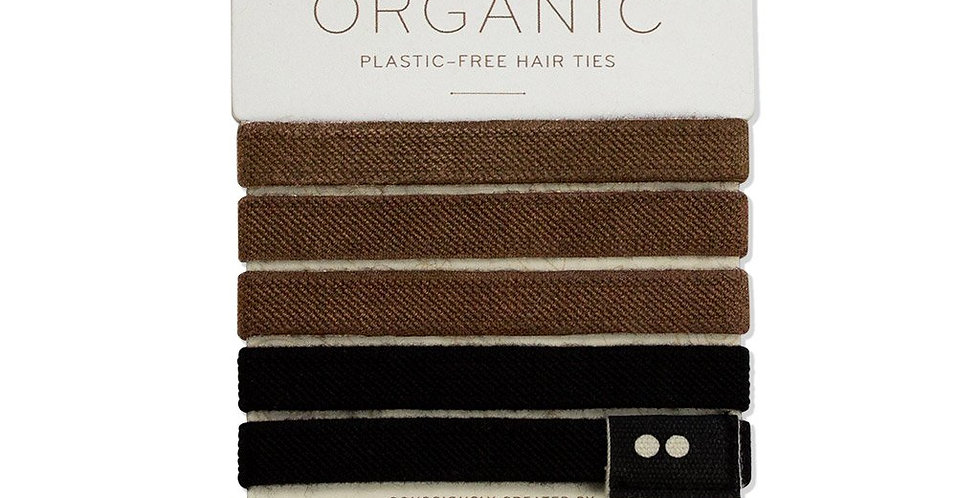KOOSHOO Organic Hair Bobbles - Brown/Black