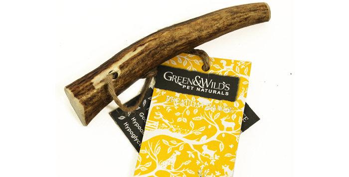 Sustainable Antler Dog Chew Puppy - Green & Wilds