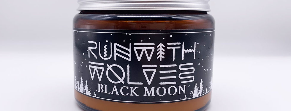 XL Black Moon Soy Wax Candle 500ml - Run With Wolves
