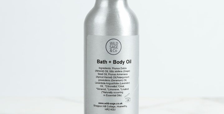 Bath and Body Oil 100ml - Wild Sage + Co
