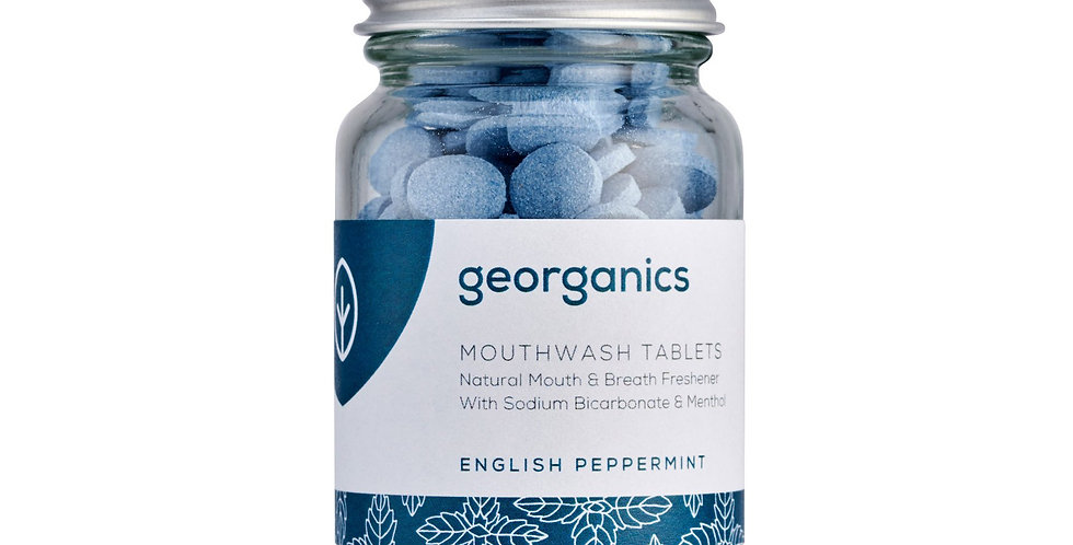 Mouthwash Tablets English Peppermint 180 Tablets - Georganics
