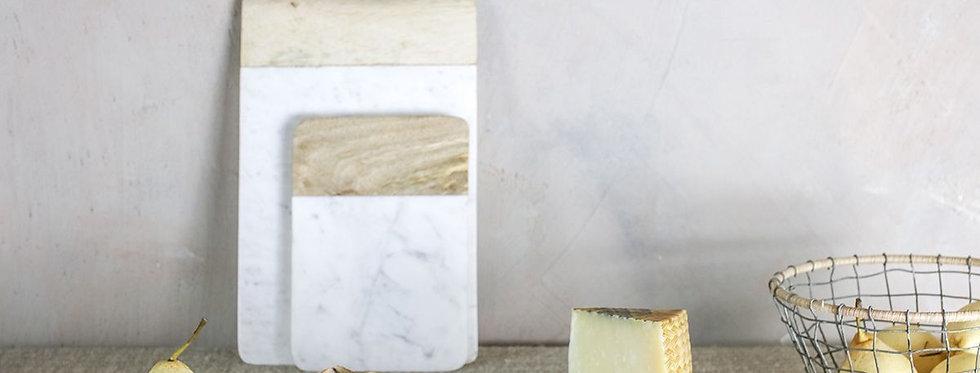 Bwari Long Marble Board Small White - Nkuku
