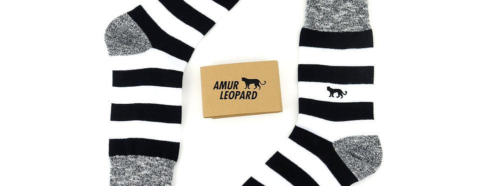 Amur Leopard Socks Striped - Critically Endangered Socks